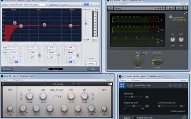 Diverse Tools zur Klang- und Dynamikbearbeitung